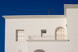 Traditional  white house in Santorini, Greece