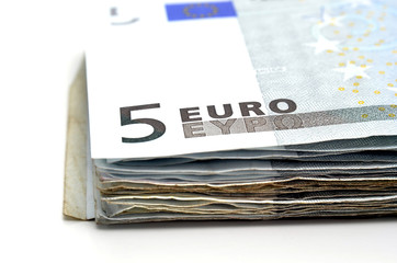 Fajo de billetes de 5€
