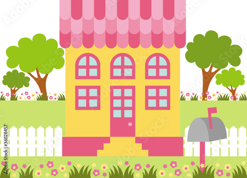 any little girl's dream - fabulous pink dollhouse by TATIANA ...