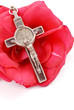 Cross on Red Rose