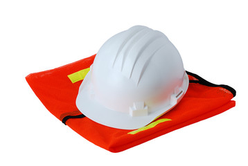 Basic work safety set isolated on white