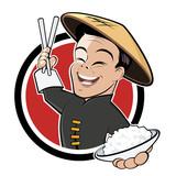 Fototapety china restaurant cartoon