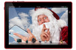 Santa Claus on the tablet-pc