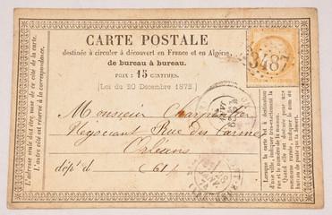 Sehr alte Postkarte- Jahr 1879
