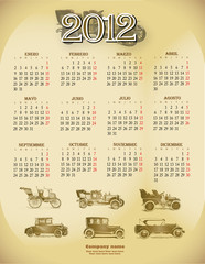 Antique car collection calendar