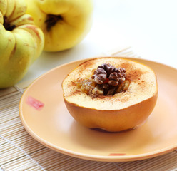 baked quince with Circassian walnut