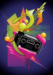stereo vector illustration © chispas