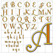 abc alphabet background fontleroy design