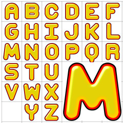 abc alphabet background corpulent design