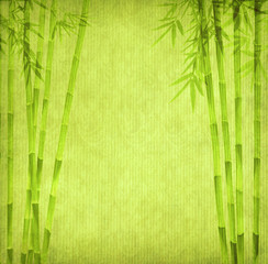 design of chinese bamboo trees with texture of handmade paper © xiaoliangge