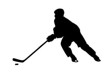 Hockey Player Silhouette (with clipping path)