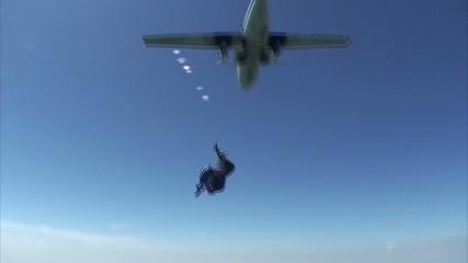 Skydiving video. Tandem.