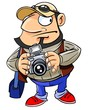 Professional photographer with a camera