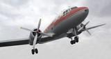 nostalgic propeller aircraft poster