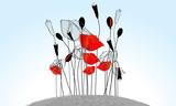 Fototapety Beautiful poppies illustration