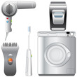 Set of realistic, detailed bathroom appliances