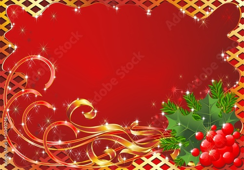 Natale Cartolina Auguri-Christmas Greeting Card-Vector
