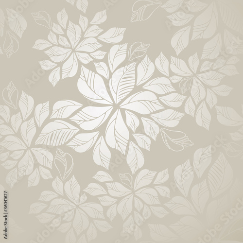 Seamless silver leaves wallpaper|36041627