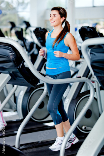 Woman running at the gym