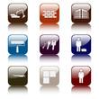 Bau-Handwerker Icons