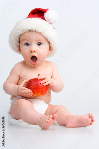 Surprised infant