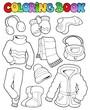 Coloring book winter apparel 1