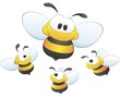 Cute Cartoon Bees - 36042274