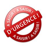 Tampon A SAISIR D'URGENCE (soldes prix étiquette offre spéciale) poster