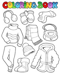 Coloring book winter apparel 1
