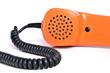 Telefonhörer in der Farbe orange