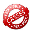 """Tampon """"PRIX CASSES"""" (soldes promos déstockage offre spéciale)"""