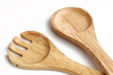 Salatgarnitur aus Holz