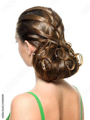 woman  with modern creative hairstyle