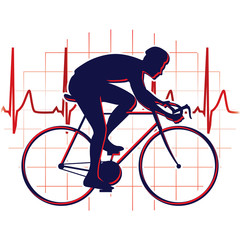 Cyclist icon vector