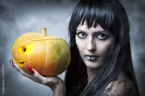 Halloween makeup. Sexy woman