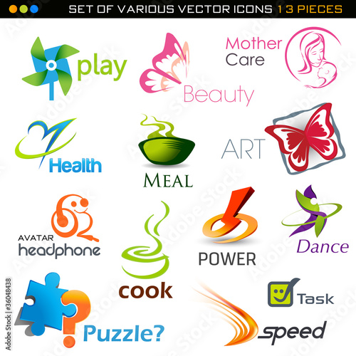 icons set- 13 vector pieces
