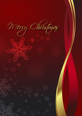 red/gold vector christmas background