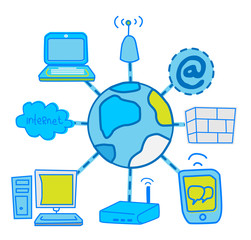 internet Global Network communication