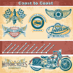Motorcycle vintage elements