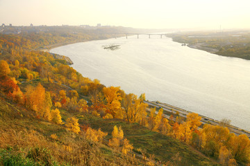 Golden autumn in Nizhny Novgorod in Russia