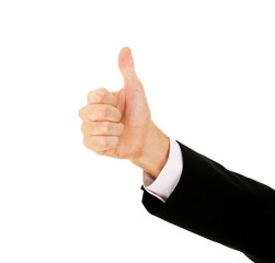 Businessman's Hand With Thumb Up