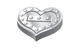 Metal heart vector illustration
