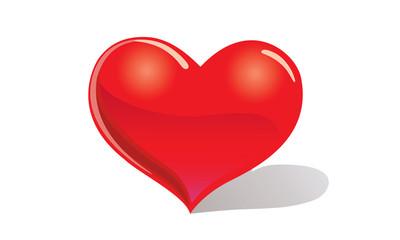 One heart vector illustration