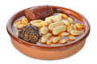 Cazuela de fabada asturiana.