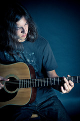 Singer Songwriter Guy with Guitar
