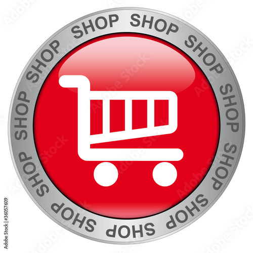 SHOP  (Red Button with Symbol)
