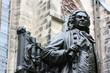 Leinwandbild Motiv statue von j. s. bach in leipzig