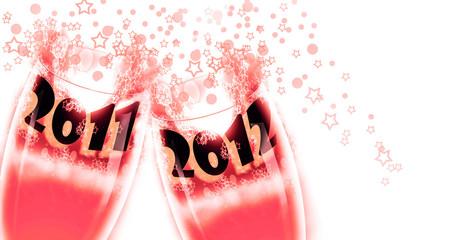 2012 año nuevo brinda con año anterior