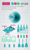 infographics element icons and symbols poster