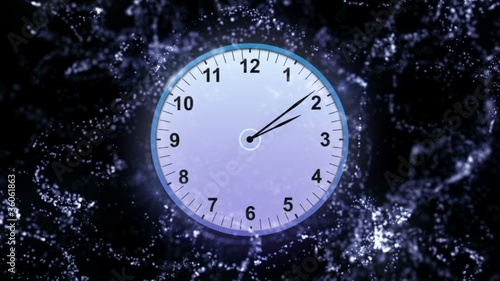 Particle Clock Background 2 - HD1080